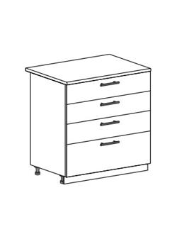 Шкаф нижний с 2 ящиками Юлия ШН4Я 800