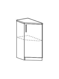 Шкаф нижний торцевой Юлия ШНТ 300