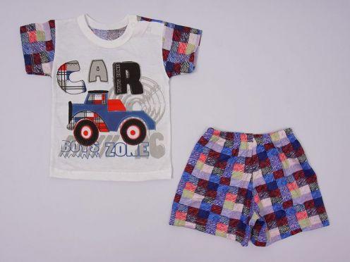 Костюм: футболка 2 кн., шорты kA-KS069(2)-SUk / 100% хлопок / машина