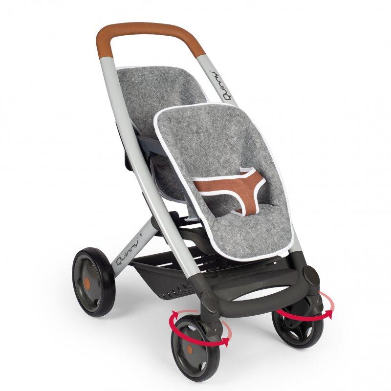 Коляска для  близнецов SMOBY Stroller For Twins Maxi Cosi Quinny Felt 253204