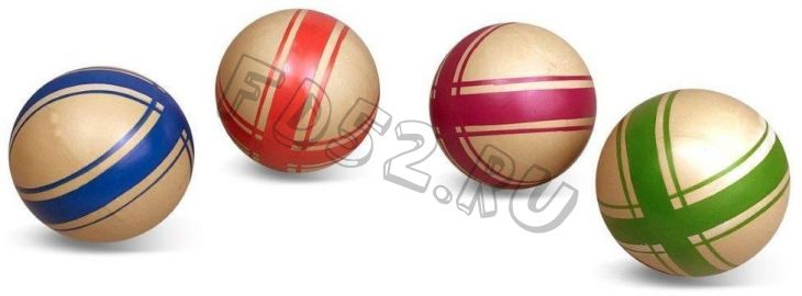 Мяч детский Эко Крестики-нолики, 7,5 см, ручное окраш., в ассорт.  40432