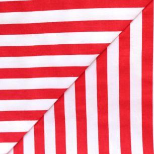 Хлопок - Красная полоска широкая 50х40