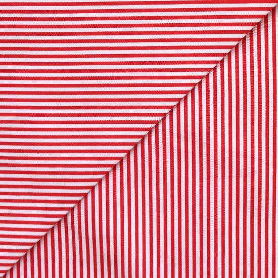 Хлопок - Красная полоска узкая 50х40