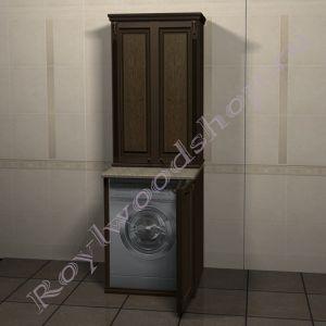 """Тумба и шкаф для стиральной машины """"Челси- 2- 67 орех"""""""