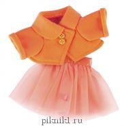 Оранжевая курточка и юбка