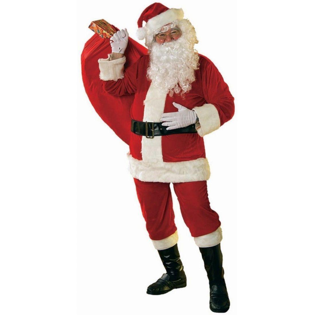 Велюровый костюм Санта Клауса