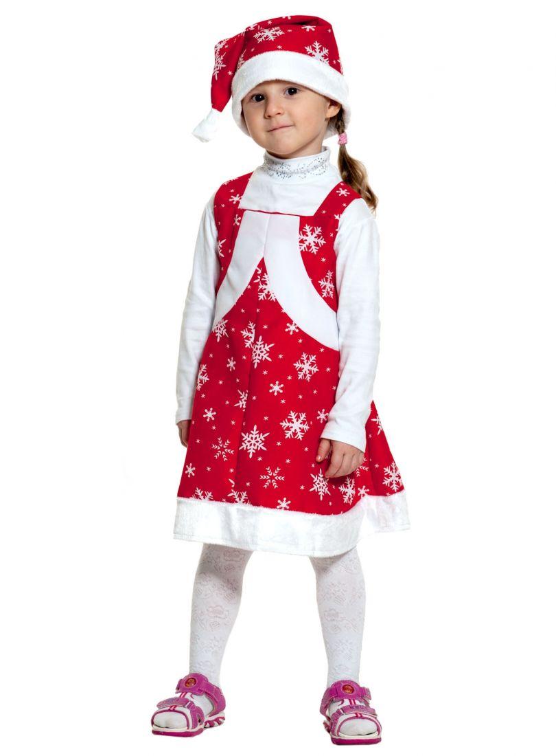 Детский костюм девочки Санты