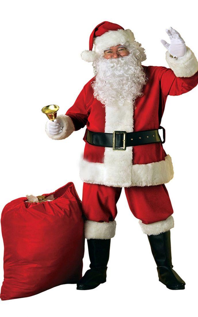Взрослый плюшевый костюм Санта Клауса