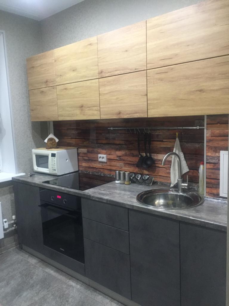 Кухонный гарнитур ЛОФТ дуб цикорий/бетон темный 2,4 м.