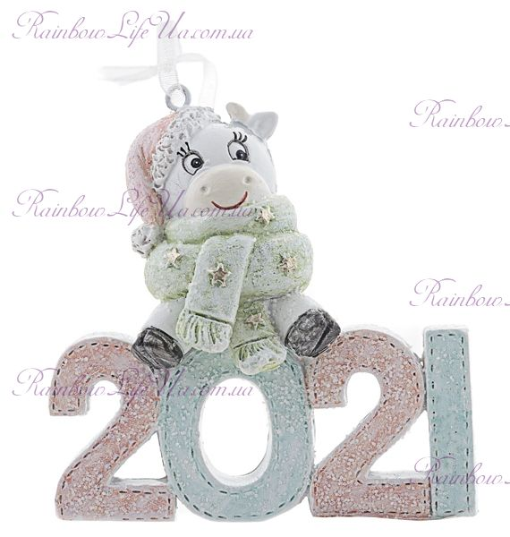 """Новогодняя подвеска """"Коровка символ 2021 года"""""""