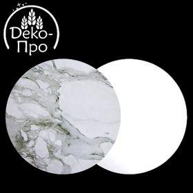 Подложка мрамор/белая d-30см 3мм