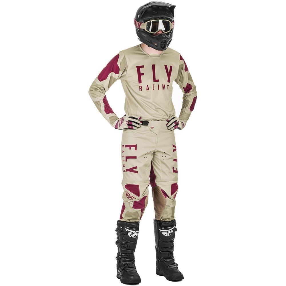 Fly Racing 2021 Kinetic K221 Stone/Berry комплект джерси и штаны
