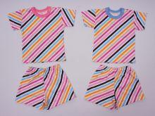 Костюм: футболка 2 кн., шорты kC-KS069(2)-SU /полоска наискосок