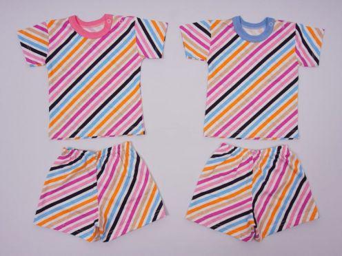 Костюм в полоску: футболка 2 кн., шорты kC-KS069(2)-SU