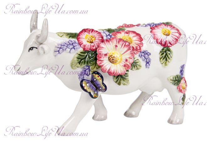 """Фигурка """"Цветочная корова с бабочкой"""""""