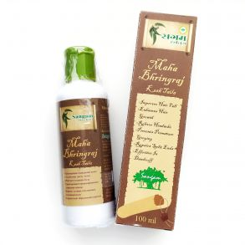 Масло для волос Махабрингарадж | Maha Bhringraj hair Oil | 100 мл | Sangam Herbals