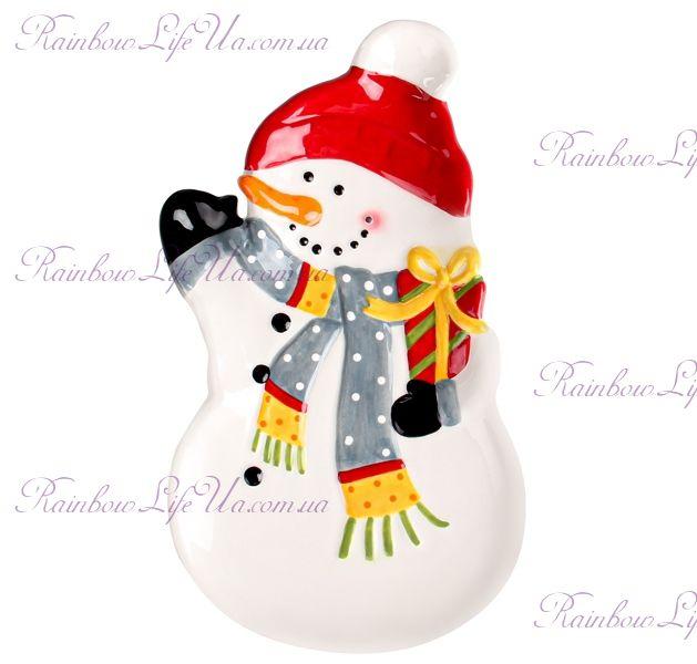 "Блюдо новогоднее ""Снеговик"""