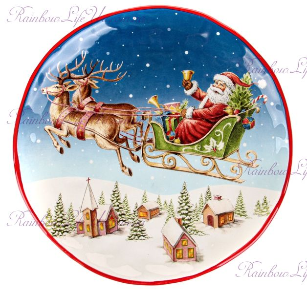 """Блюдо новогоднее """"Санта на санях"""""""