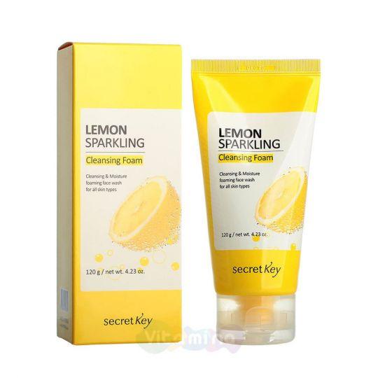Secret Key Пенка для умывания с экстрактом лимона Lemon Sparkling Cleansing Foam, 120 мл