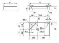 Раковина Antonio Lupi Simplo Simplo63 63х42 схема 1