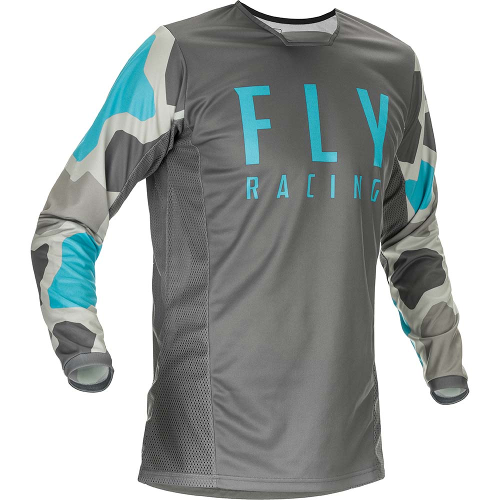 Fly Racing 2021 Kinetic K221 Grey/Blue джерси