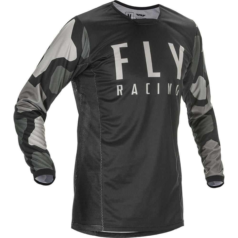 Fly Racing 2021 Kinetic K221 Black/Grey джерси