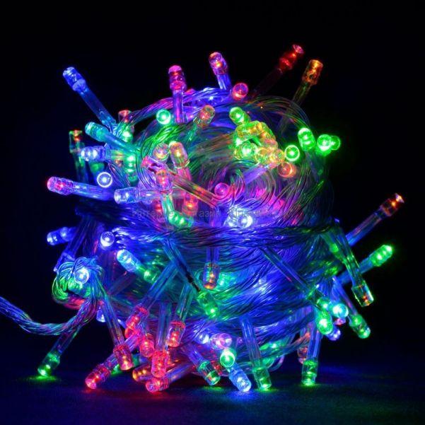 Разноцветная светодиодная гирлянда-нить 200 LED лампочек, 8 м