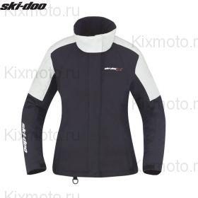 Куртка женская Ski-Doo Holeshot, Черно-белая мод. 2021
