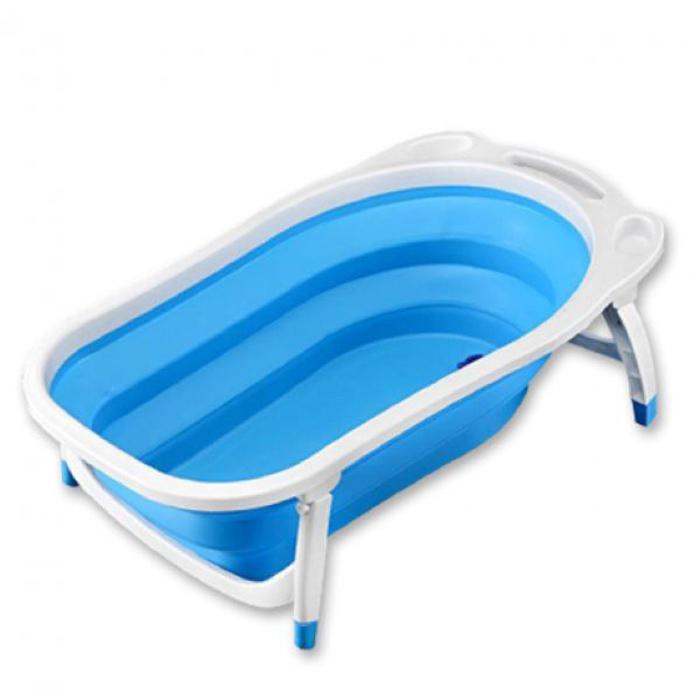 Детская складная ванна Folding Baby Bathtub, Цвет Голубой