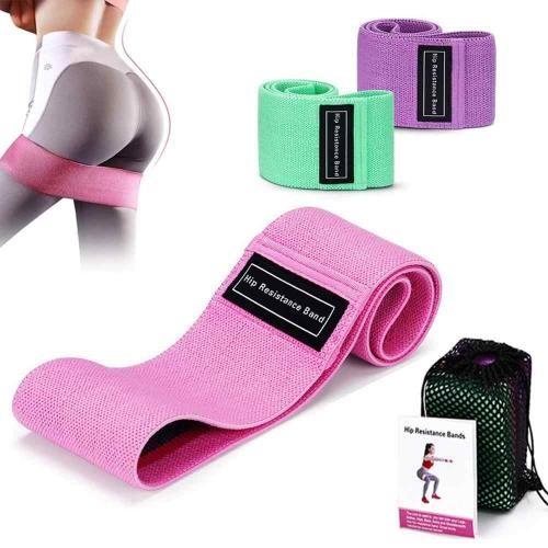 Комплект тканевых резинок для фитнеса, 3 шт