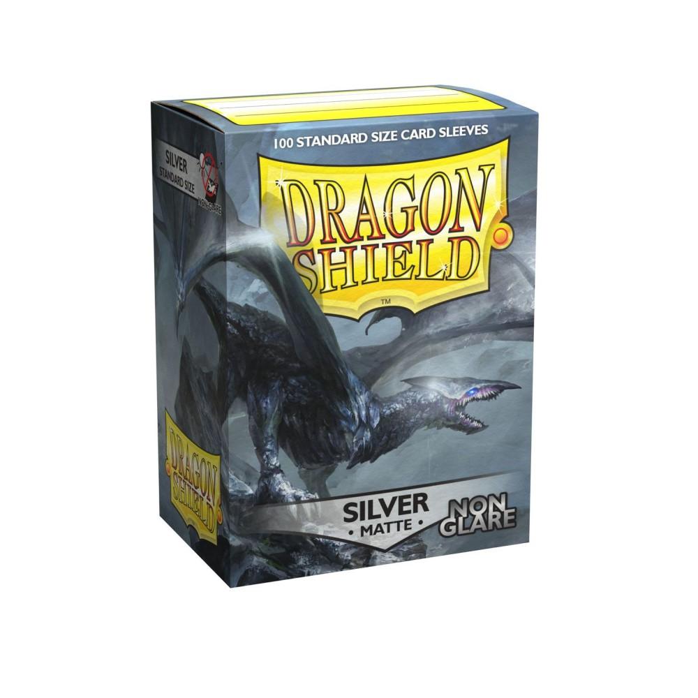 Протекторы Dragon Shield матовые серебряные Argentia (100 шт.)