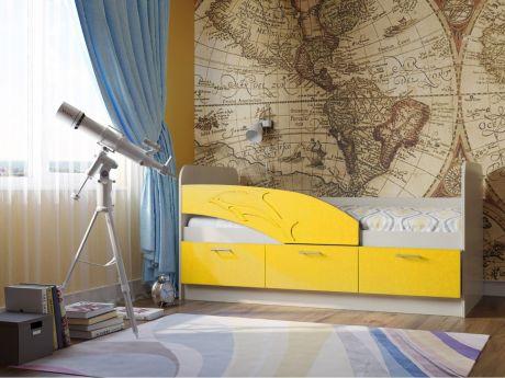 """Кровать детская 06.222 """"Дельфин"""" (1600)"""
