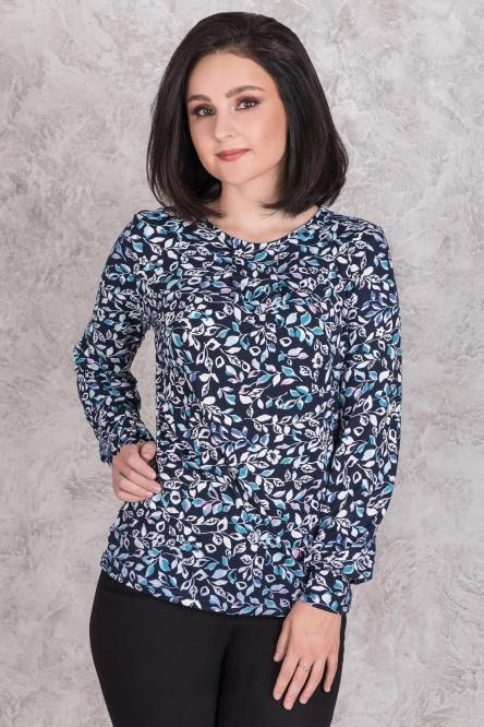 Блуза женская арт.0143-06 бирюзовая, масло с начесом