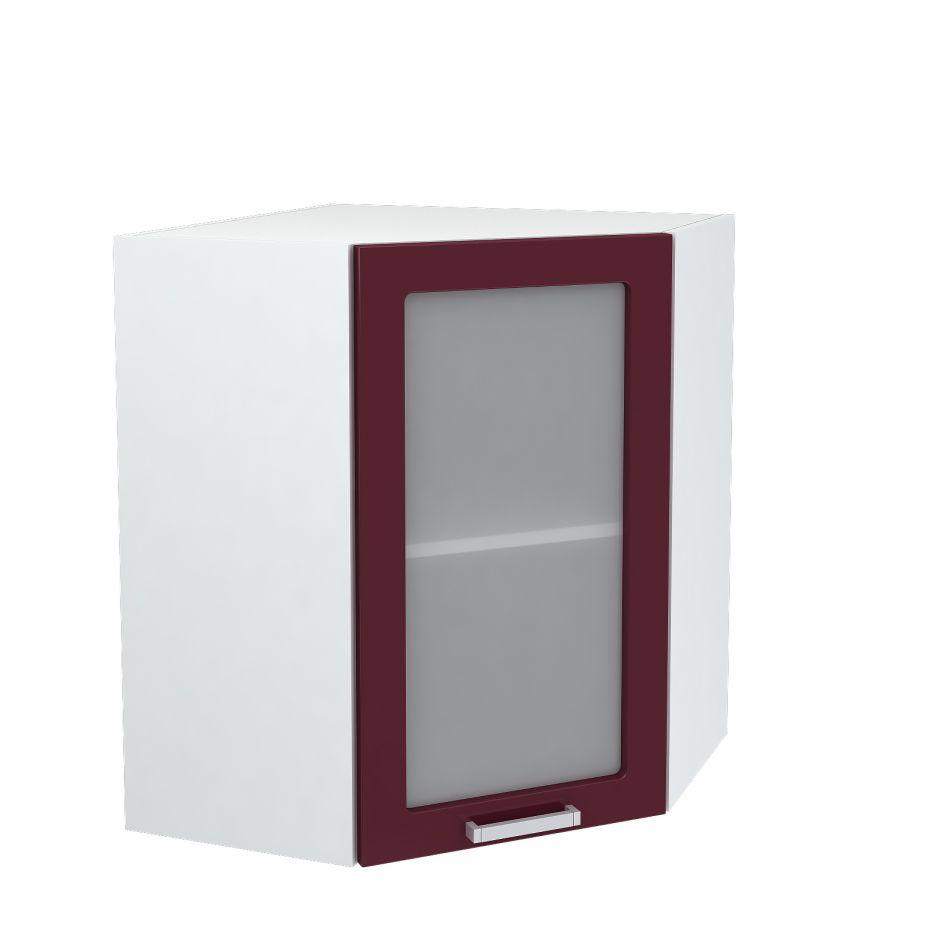 Шкаф угловой верхний со стеклом Линда ШВУС 557