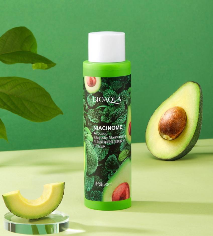 Увлажняющий тонер с экстрактом авокадо и никотинамидом от «BIOAQUA».(45732)