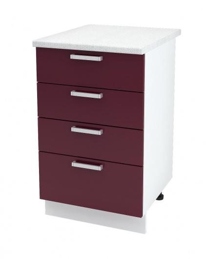 Шкаф нижний с четырьмя ящиками Линда ШН4Я 500