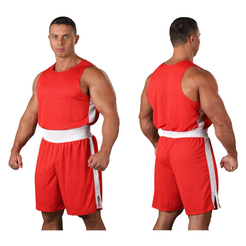 Форма боксёрская со вставками RSC BF BX 09 красная