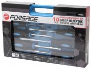 """F-7010A Набор отверток магнитных """"Profi"""",10 предметов в кейсе Forsage"""