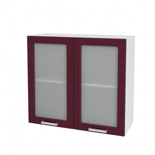 Шкаф верхний 2-х дверный со стеклом Линда ШВС 800