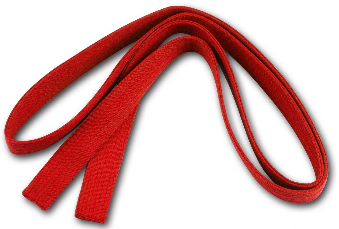 Пояс для кимоно RA-009 2.6м красный