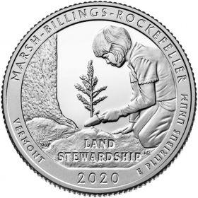 Национальный исторический парк Марш-Биллингс-Рокфеллер(Вермонт) 25 центов США 2020 Двор  S