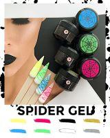"""Гель-паутинка Saga """"Spider Gel"""", 5мл (черный)"""