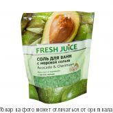 """Fresh Juice Соль для ванн """"Avocado & Cherimoya"""" 500мл дой-пак, шт"""