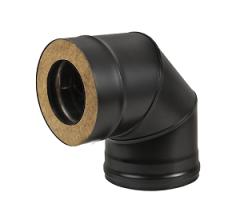 Сэндвич-колено BLACK (AISI 430/0,8мм) 90* 3 секции