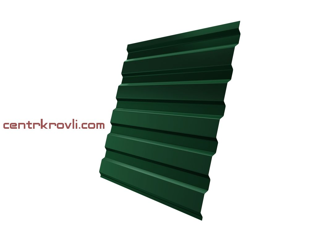 Профнастил С20А 0,45 PE RAL 6005 зеленый мох 2м