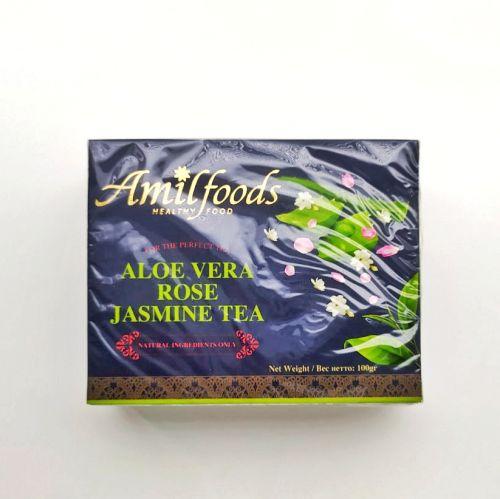 Чай с Алоэ Вера, лепестками розы и жасмином | 100 г |  Amilfoods