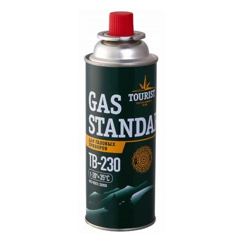 Баллон газовый TOURIST TB-230  (бутан/изобутан/пропан) цанговый