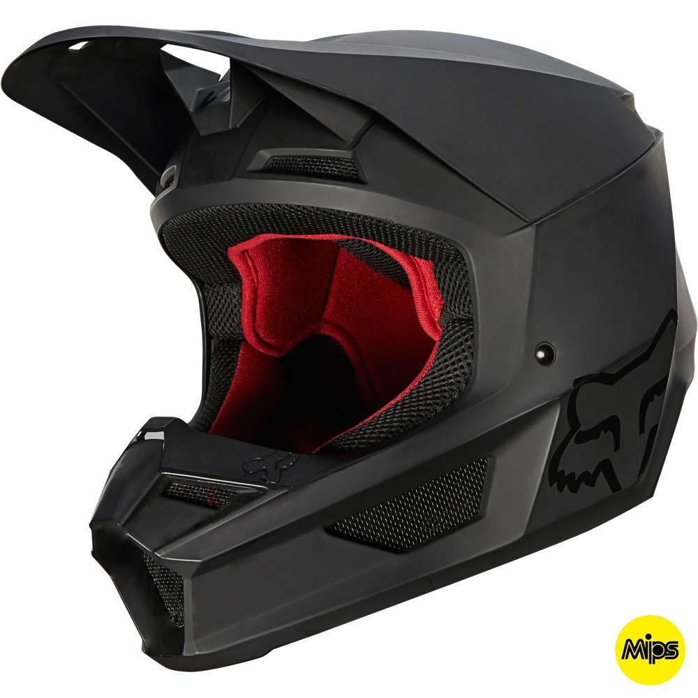 Fox V1 Matte Black MIPS (2022) шлем внедорожный