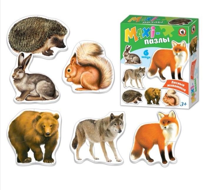 Макси-пазлы «Лесные животные»