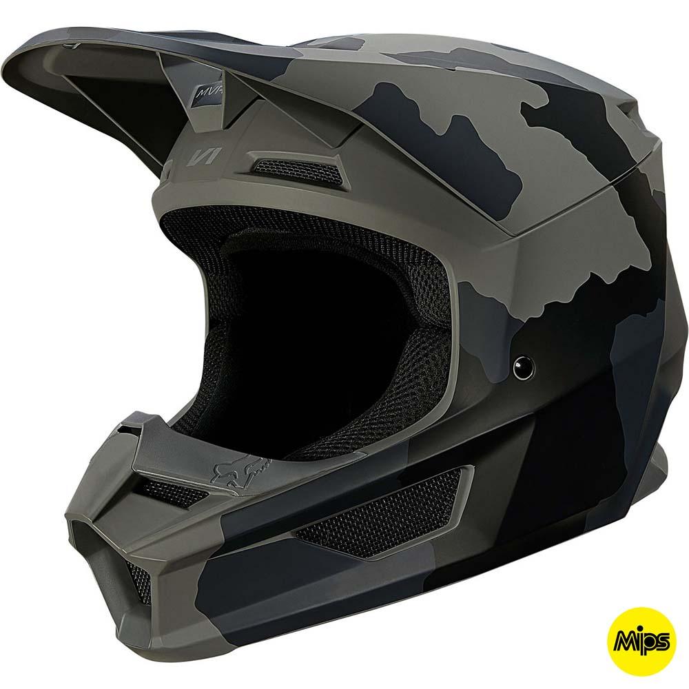 Fox V1 Trev Black Camo MIPS (2022) шлем внедорожный